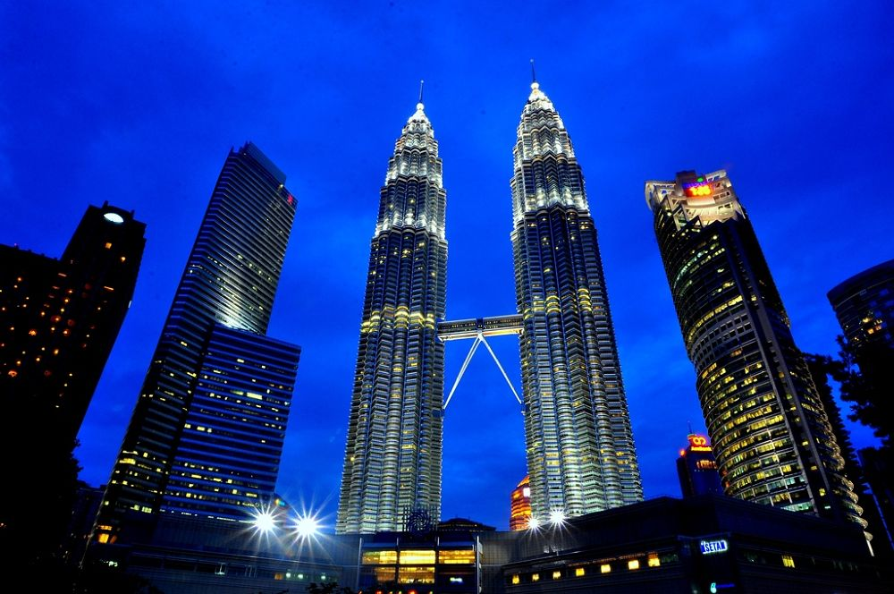 Photo in Architecture #petronas #building #twin towers #light #night #kuala lumpur