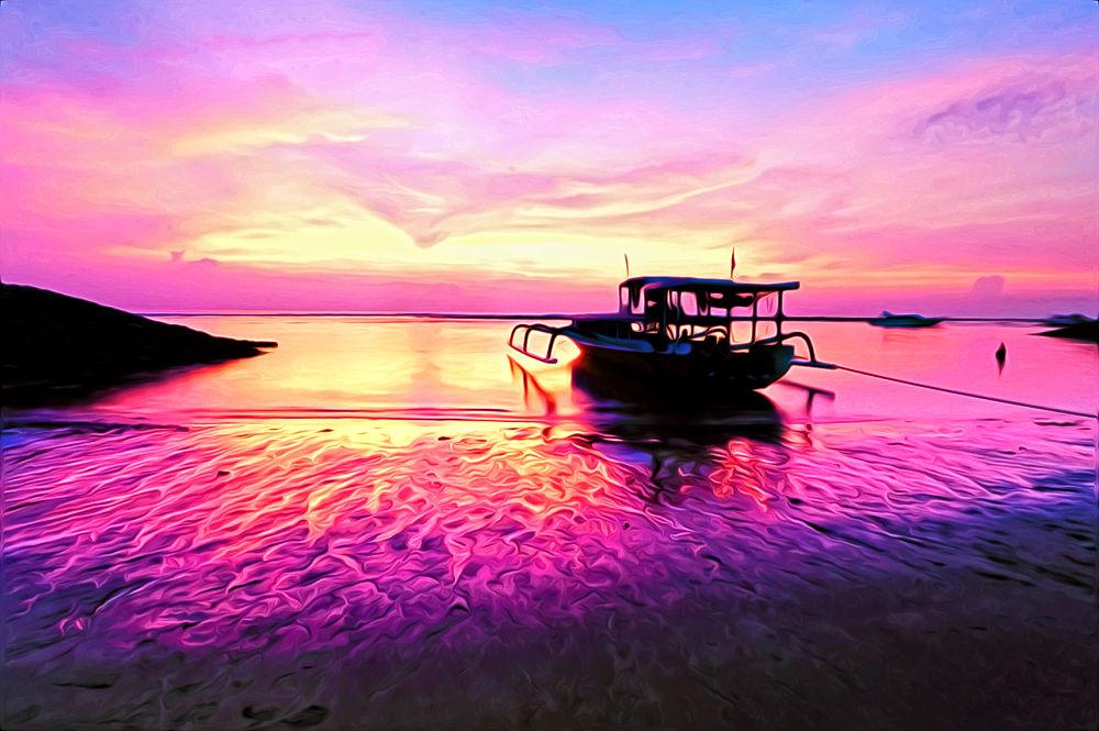 sanur beach on sunrise by nurdinrivai