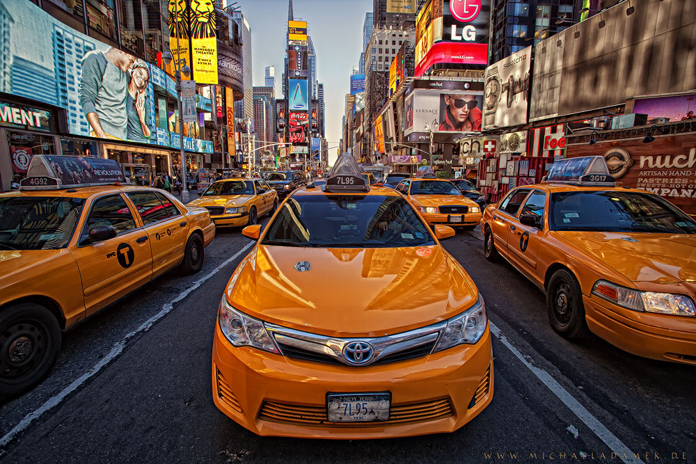 Photo in HDRI #new york #usa #taxi #city #ny #nyc #car #cars #toyota #color #colors #new york city #canon #17-40 #adamek