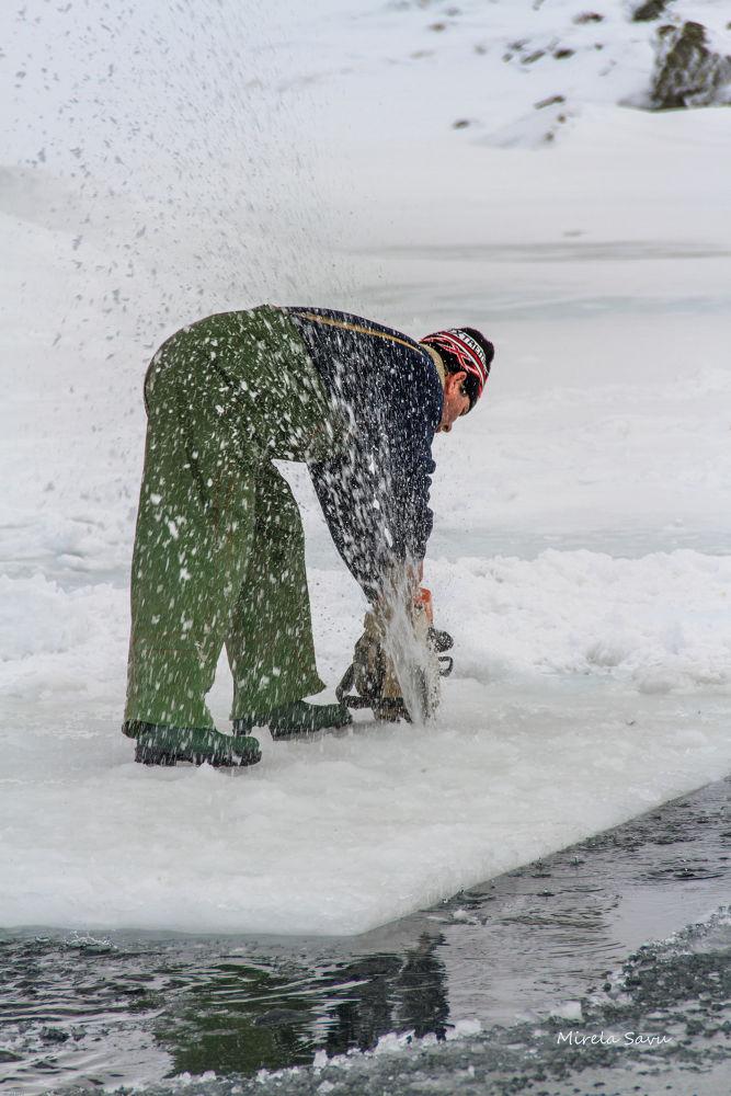 cutting ice by Mirela Savu