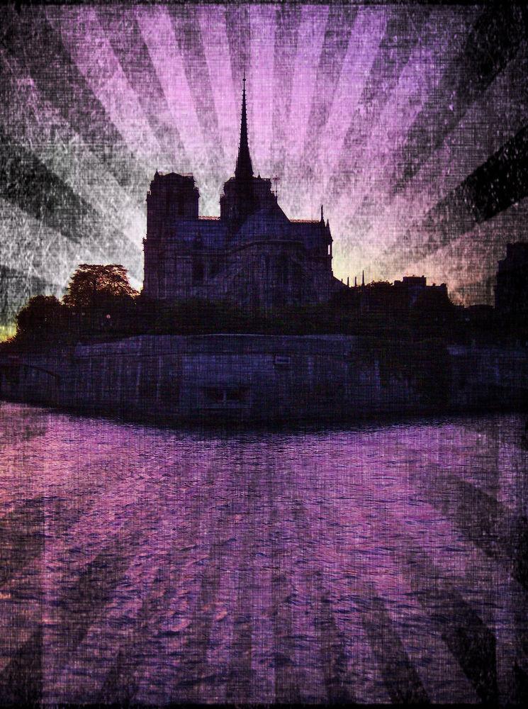Paris sunset~ by tracybertapelle