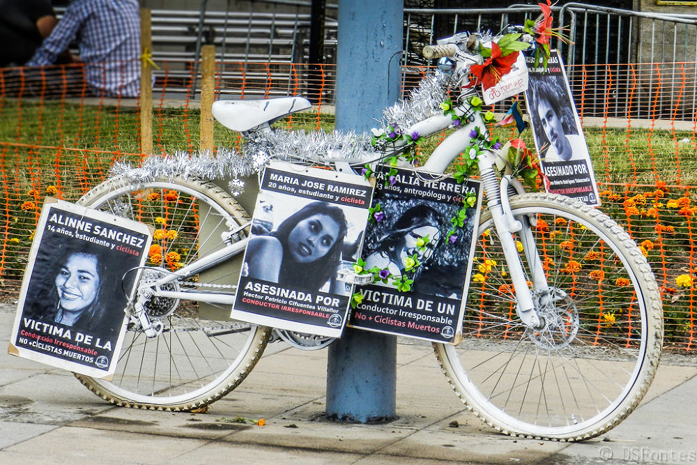 Ghost bikers movement - In memory of so many bikers who lost their lives by Doris Fontes
