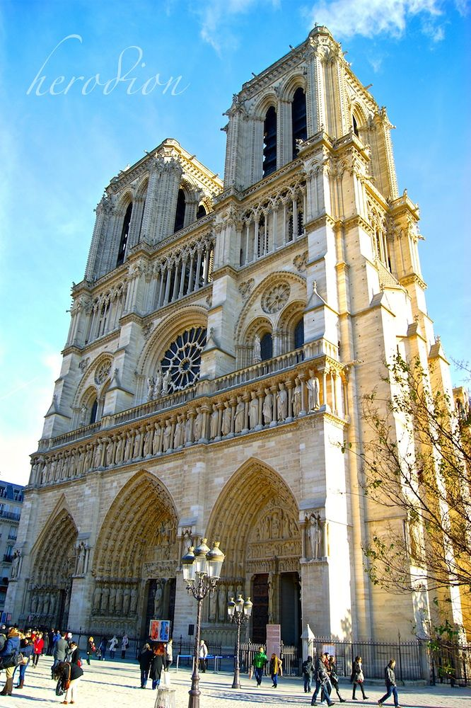 Photo in Random #notredame #architecture #summer #travelphoto #people #clear #sky #clouds