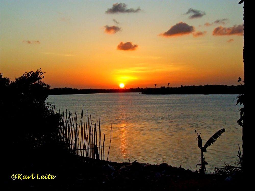 Sunset at Jundiai River, Macaiba, RN, Brazil by Karl Leite