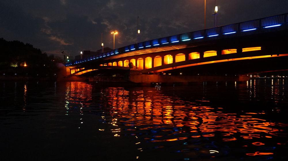 Bridge in evening by garyking168