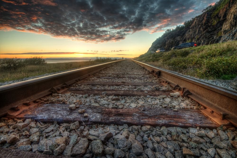 tracks sunset by kyleames391