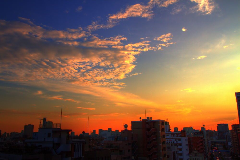 Photo in Landscape #tokyo #sky #landscape #sunset #japan #beatiful