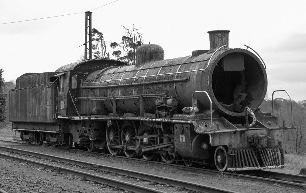 Steam Train Graveyard by Ruan