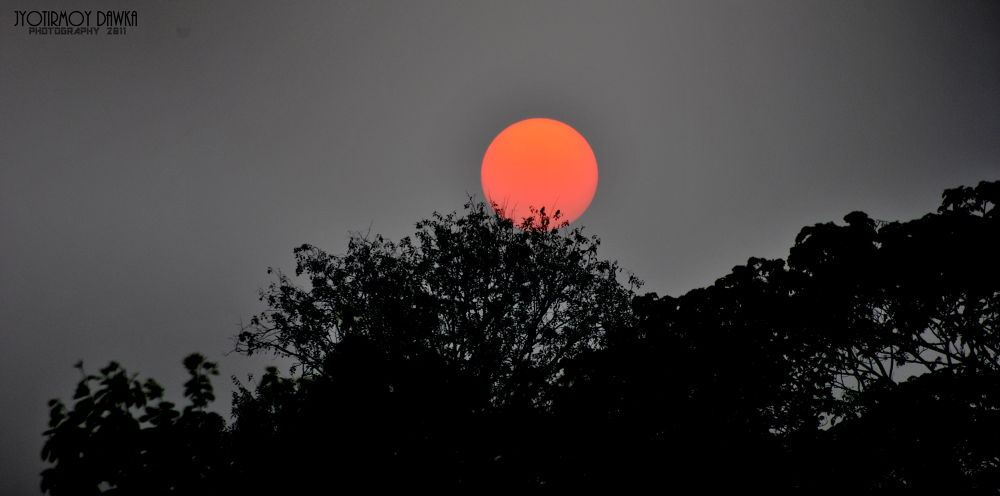RED SETTING... by Jyotirmoy Dawka