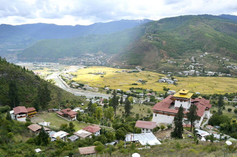 view from Paro hilltop.. by mitalibaruah