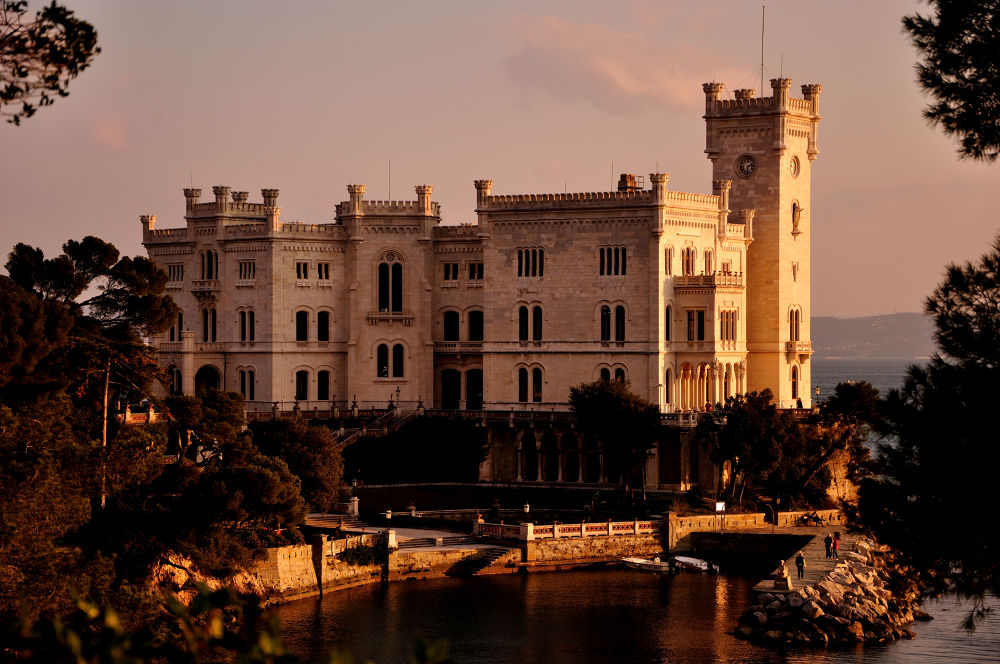 The castle on the see by Luca Marcato