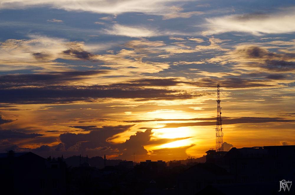 Photo in Random #silhouette #sunset #sky #cloud #sun