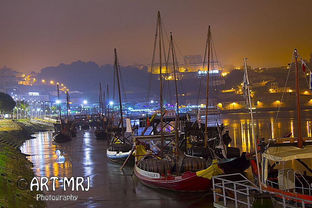 Boats in the Douro by artmrj