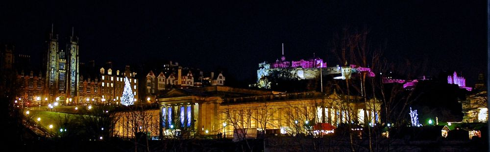 Edinburgh at night. by gordon veitch