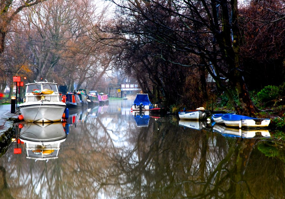 canal reflections. by gordon veitch