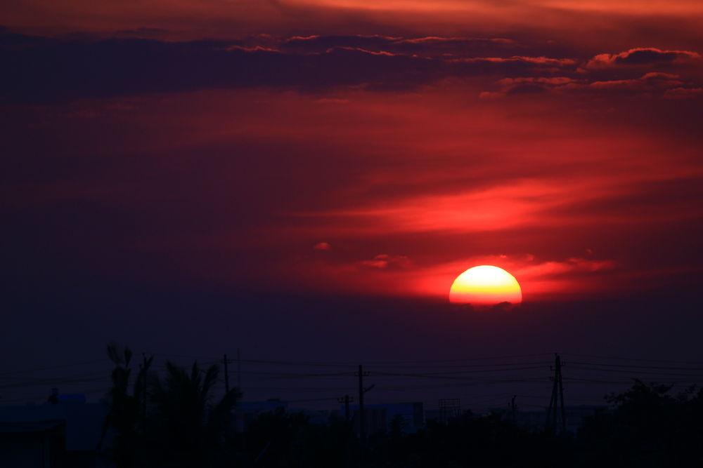 sunset by anuragreddyn