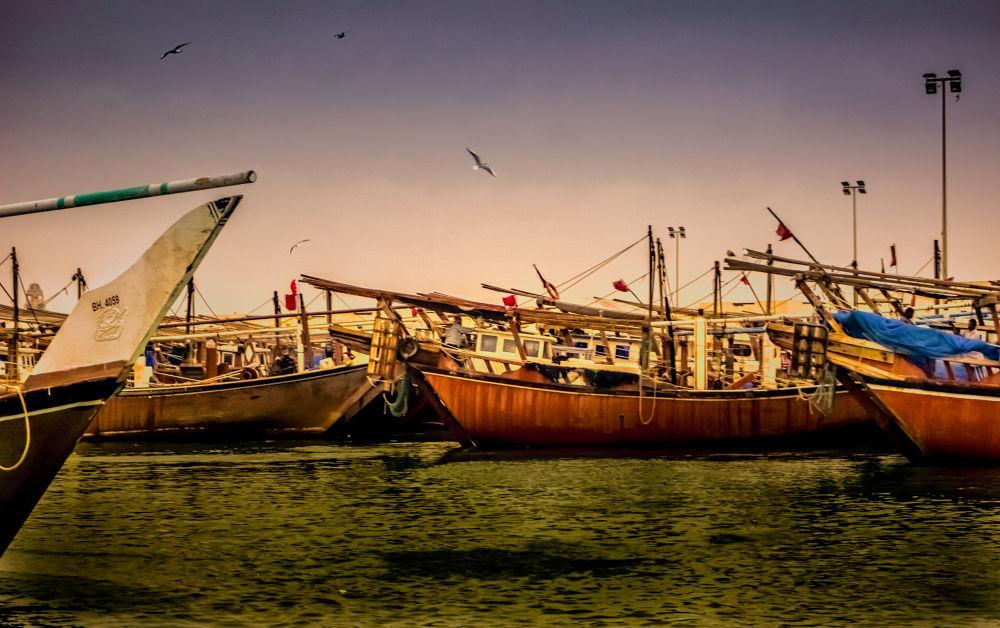 Bahrain Sitra Harbor by Sithija De Silva