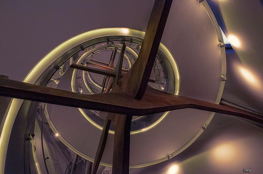 Photo in Architecture #stair #core #escalera #fundación telefonica #madrid