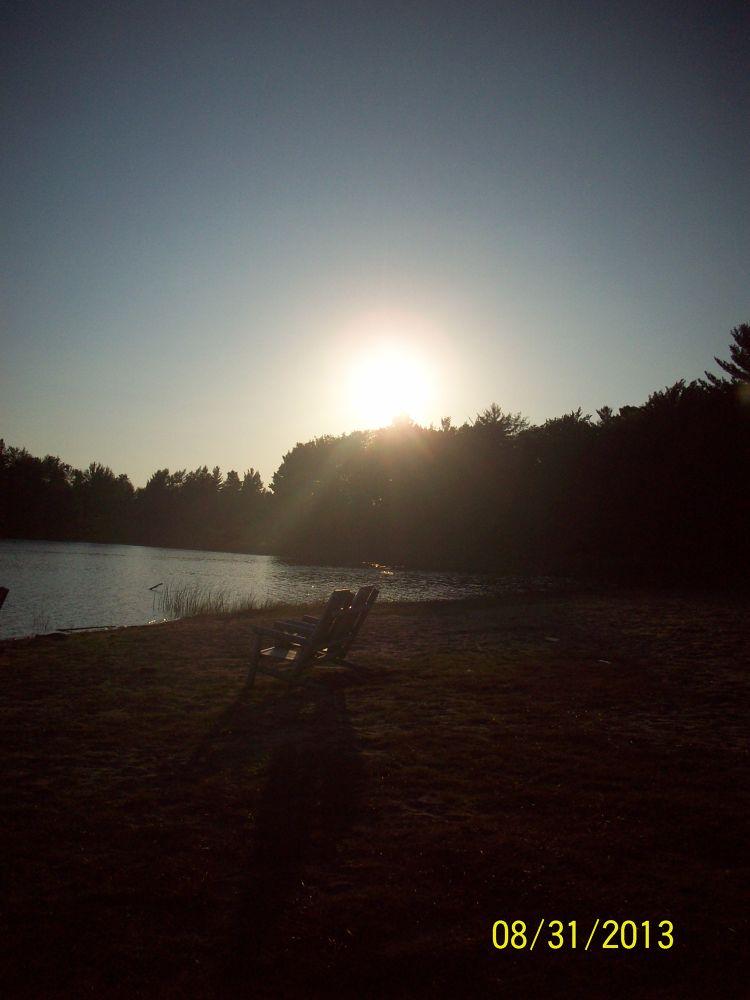 Sunset at Otter Lake by Niki