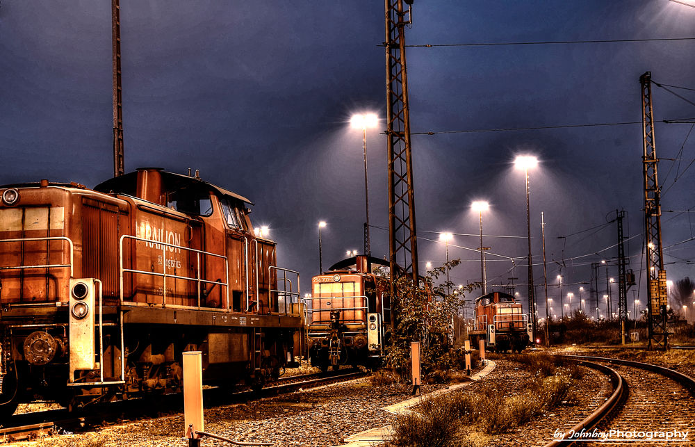 Trains Hdr by Patrick Schubert