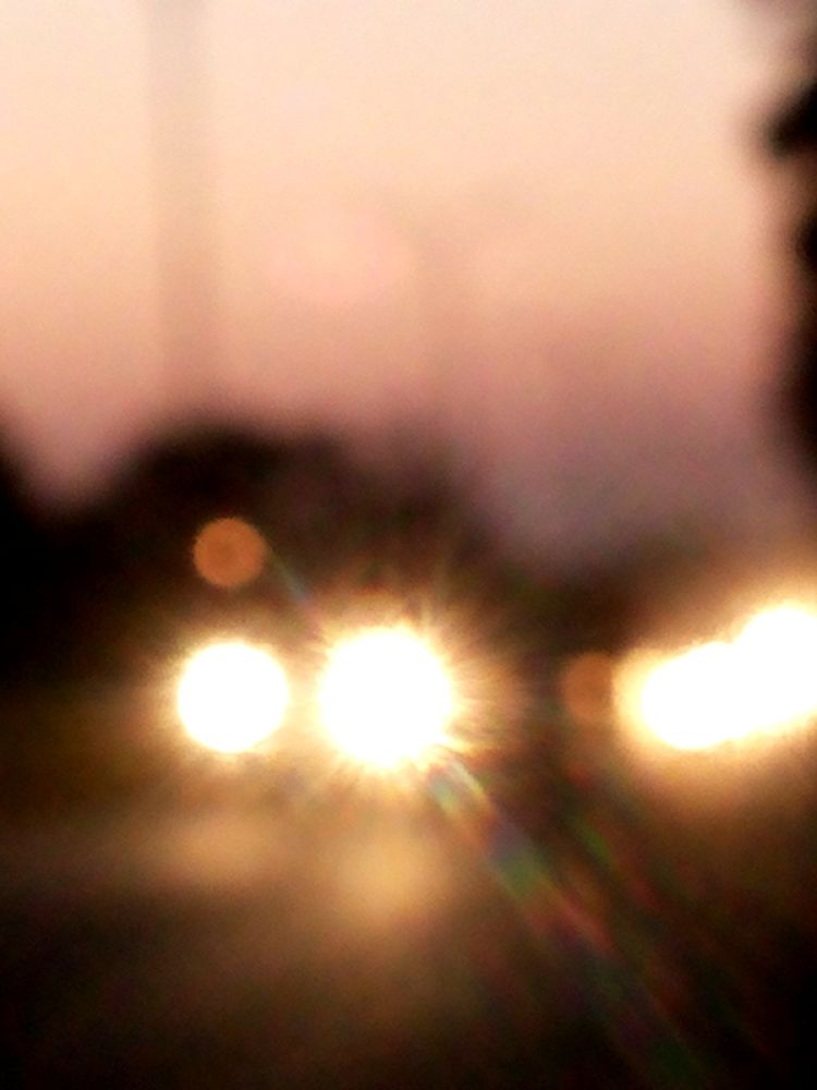 Headlights heading towards me by Siddharth Kejriwal