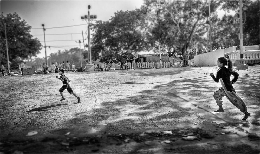 Photo in Street Photography #street #child #kid #random #india #playing kid