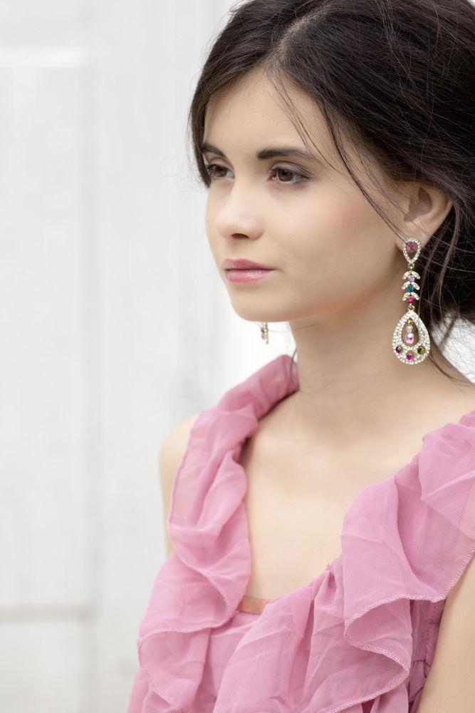 Photo in Portrait #tender #delicate #portrait #girl #hair #sweet #pink #air