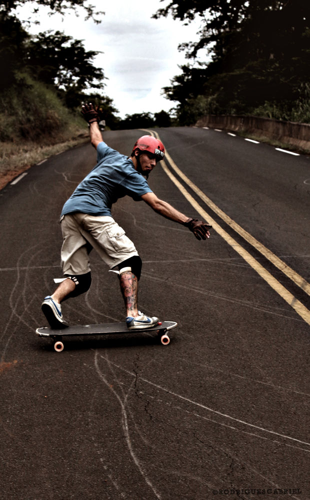 Photo in Sports #skate #longboard #downhill #slide