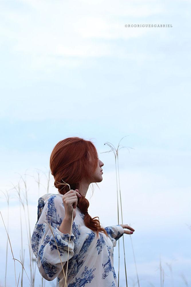 Photo in Fine Art #model #fineart #fashion #redhead #sky