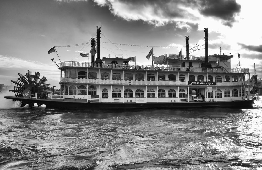 old paddle steamer by MT Photography