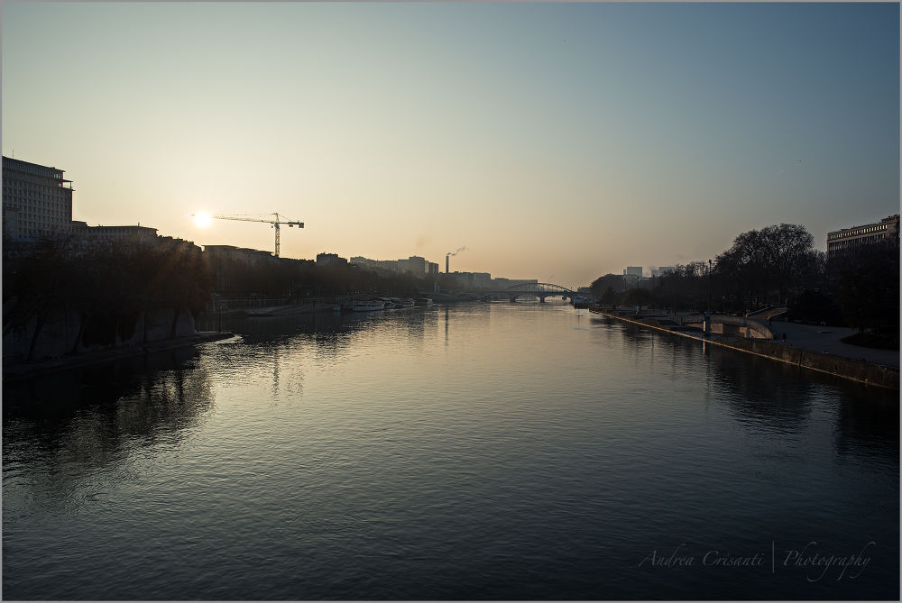 Sunrise with the Seine by andreacrisanti