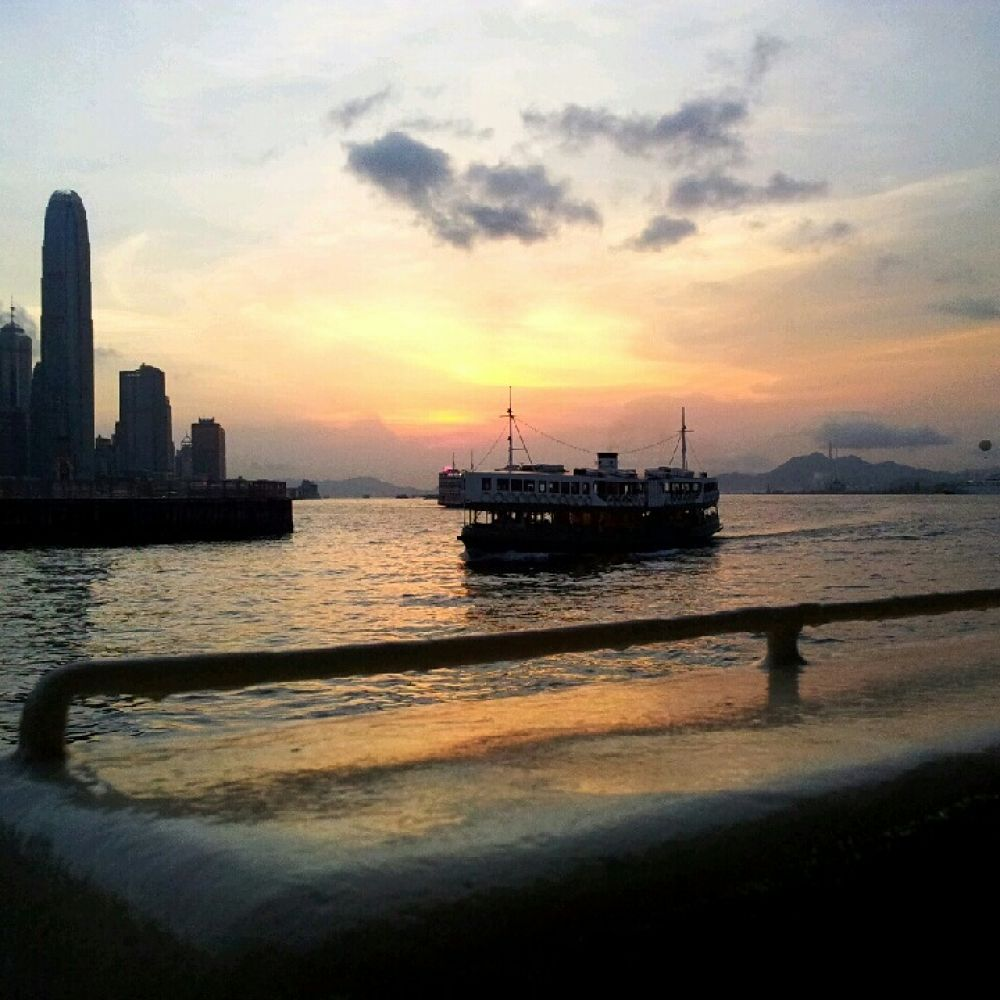 sunset ferry by leocary