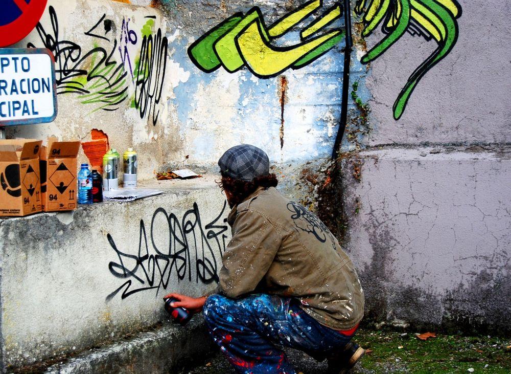 Photo in Fine Art #graffitis #people #lugo
