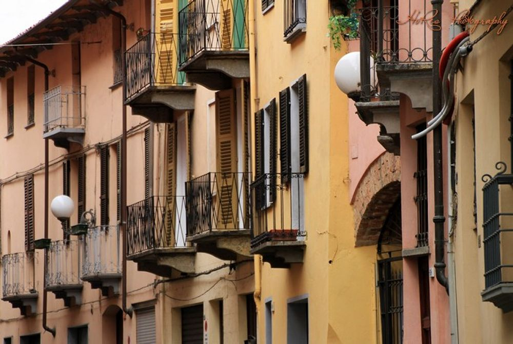 Photo in Architecture #asti #italy #houses #hores photography