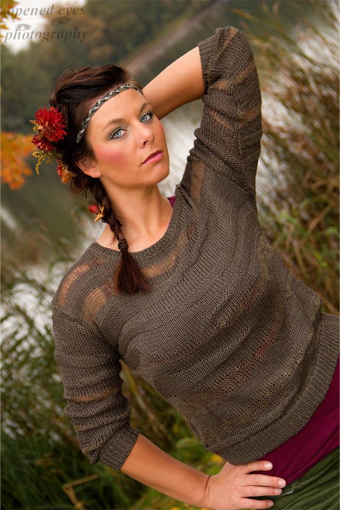 Photo in Nature #autumn #fall #flower #woman #season