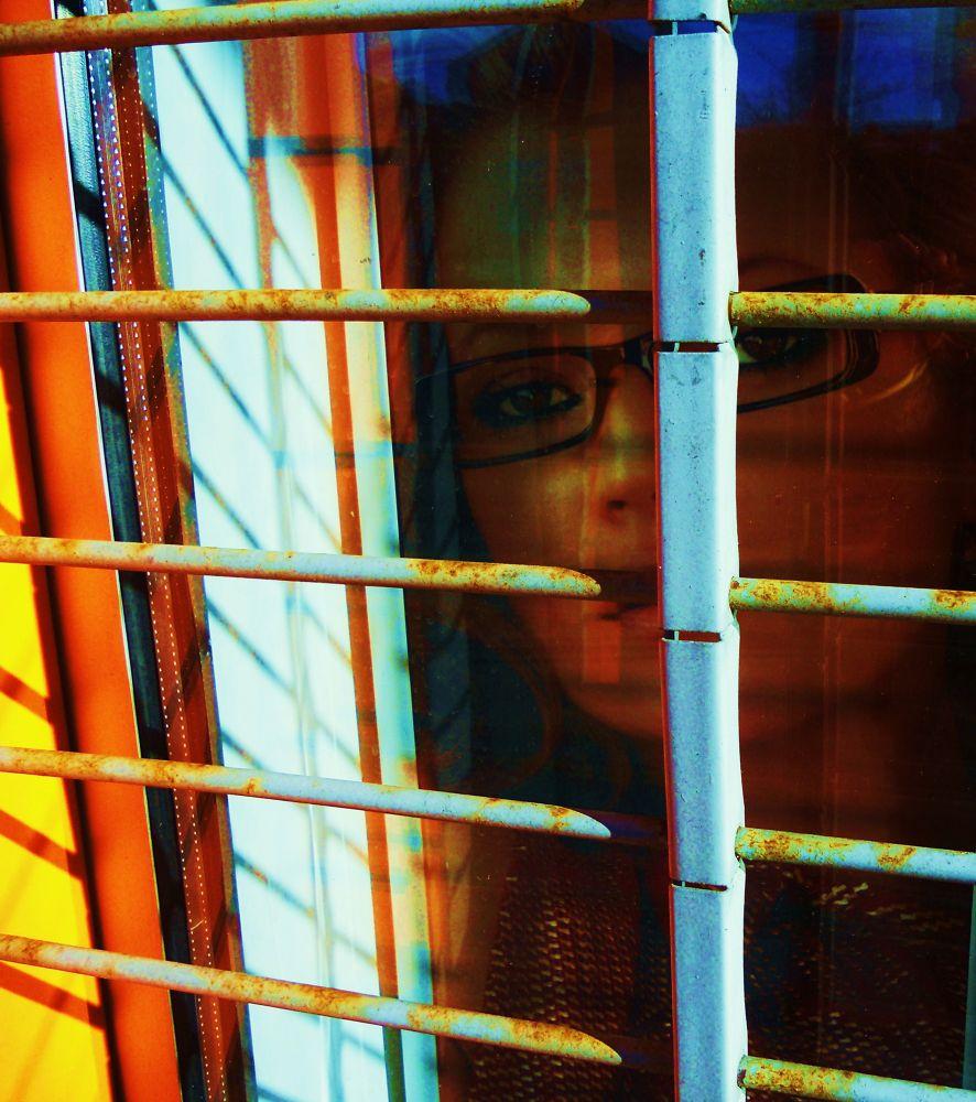 BEHIND WINDOW  by SLADJANA VASIC