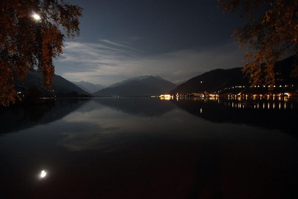 Photo in Nature #lake #moon #mirror
