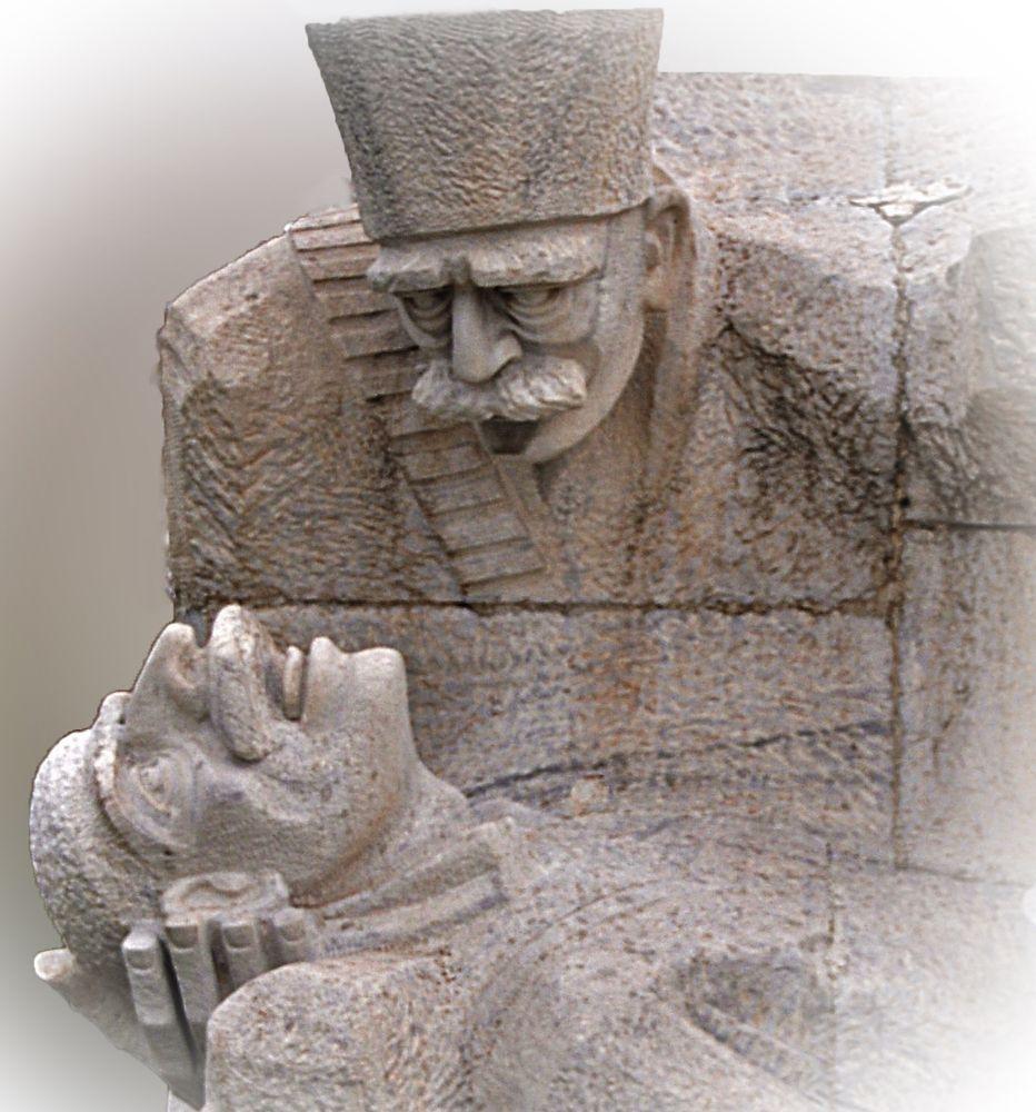 Help (A statue at the State Cemetery in Ankara, Turkey) by  Nur Keyder