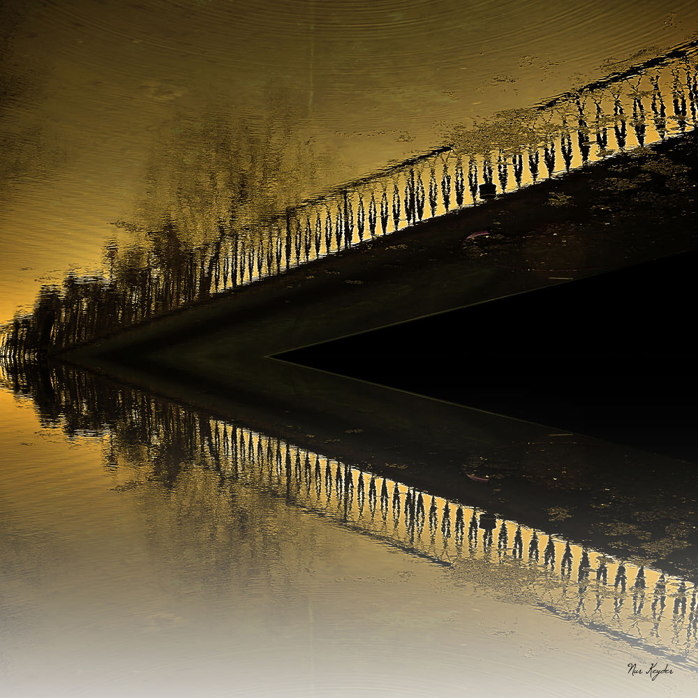 bridge over the water by  Nur Keyder