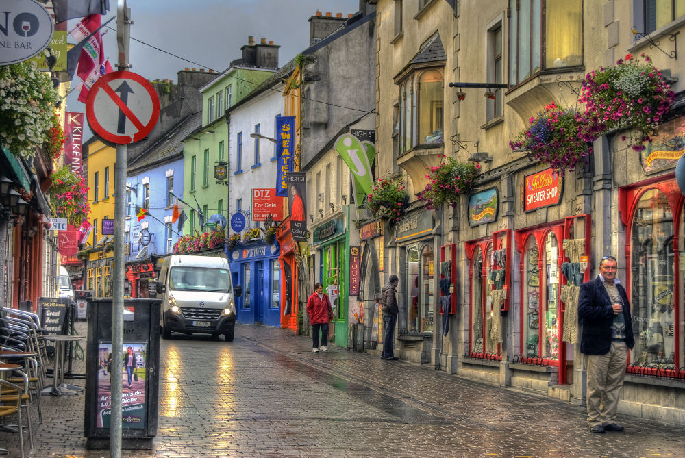 Galway in the rain by MarieJirousek