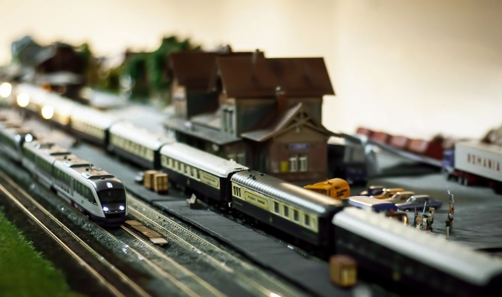 Miniatural trains 1 by andreimorosan