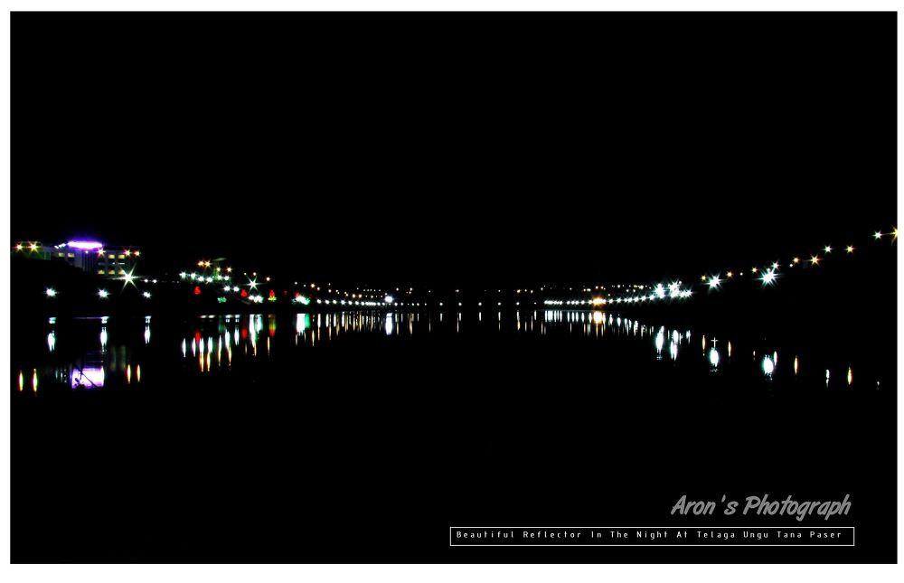 Beautiful Reflector In The Night At Telaga Ungu Tana Paser  by ahmadmuchroni