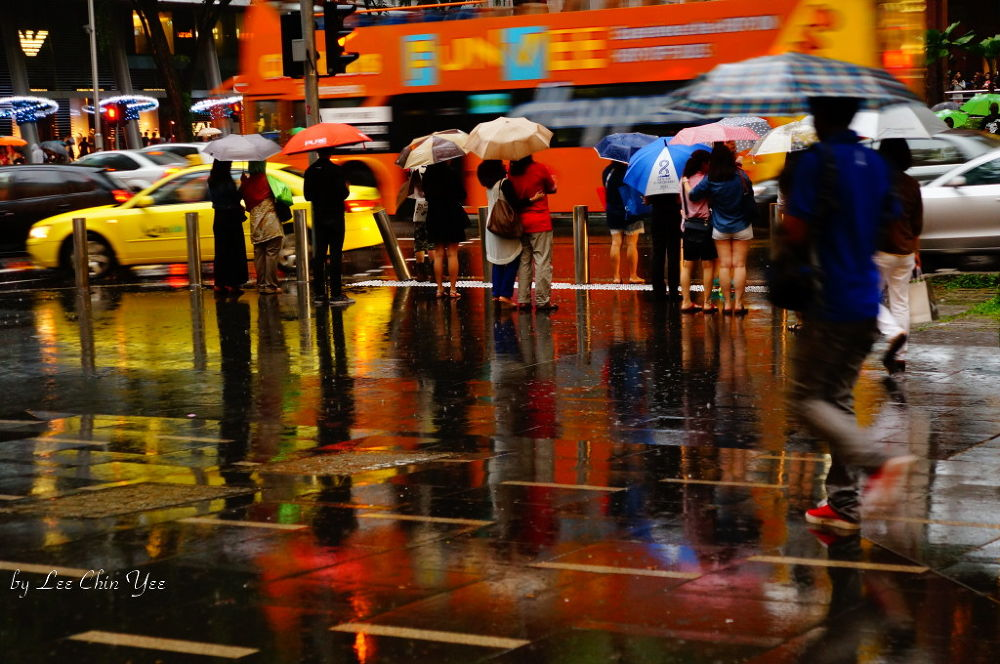 Rain in the city by Chinyee