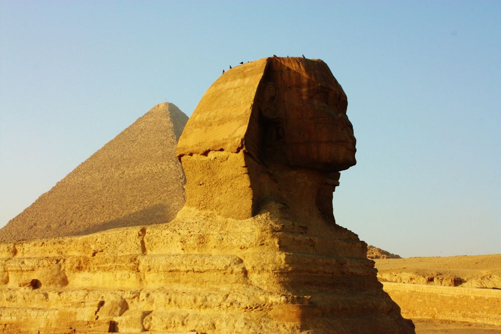 The riddle of the Sphinx. by Alexandre Mounayer