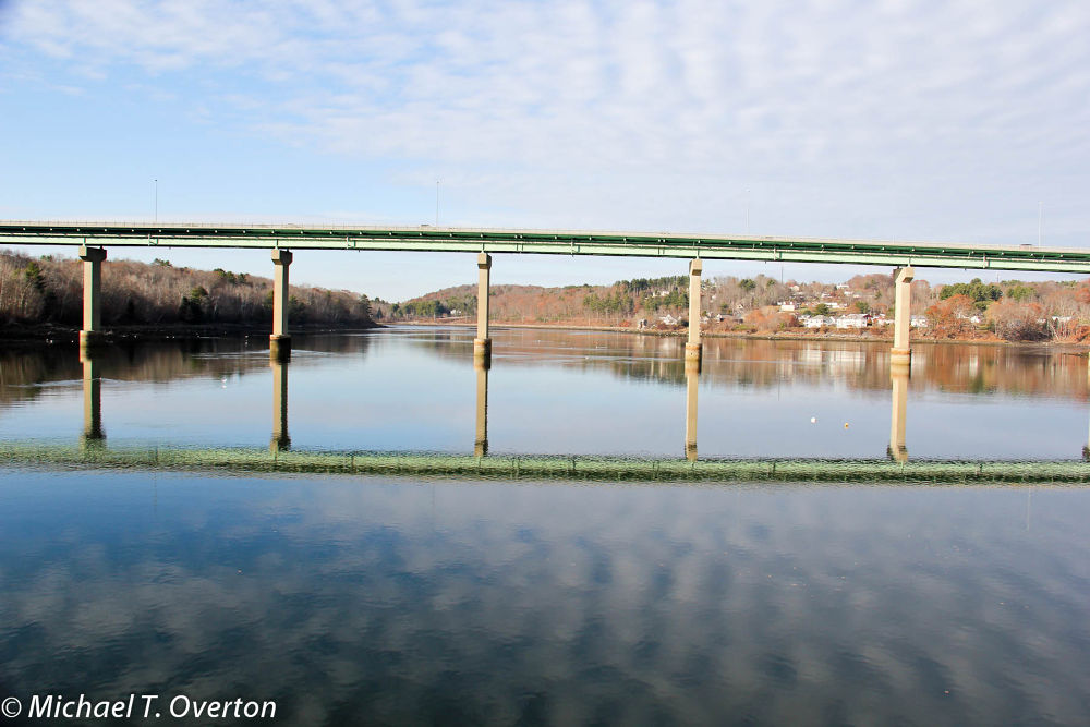 Reflections on the Passagassawaukeag River by Michael T. Overton