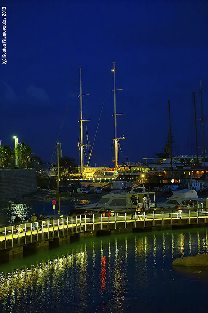 The Night Is Fall In Marina Zea  by kostasnianiopoulos
