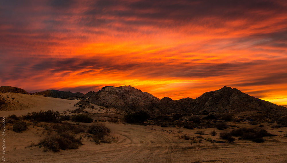 Sunset over the Mountain by RobertBascelli