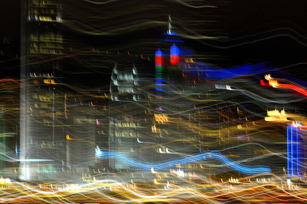 motion picture hong kong night view  by fung1128