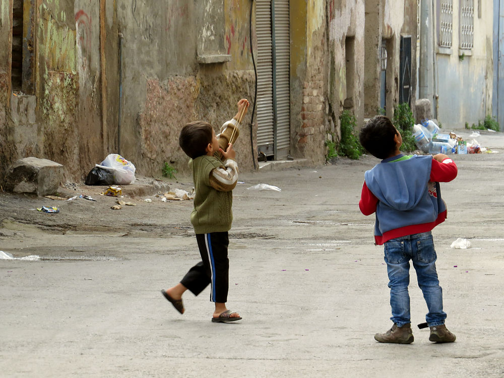 children playing by ayhan turan menekay