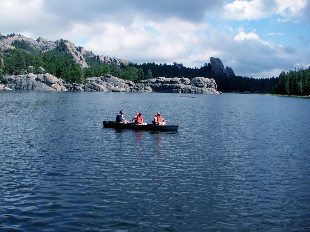 Canoeists by Vivian Wilcox